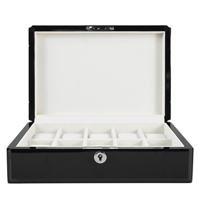 Kennett 10 Slot High Quality Ivory Velvet Wooden Watch Box