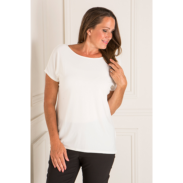 Styled By Two Way Detail Top Ivory