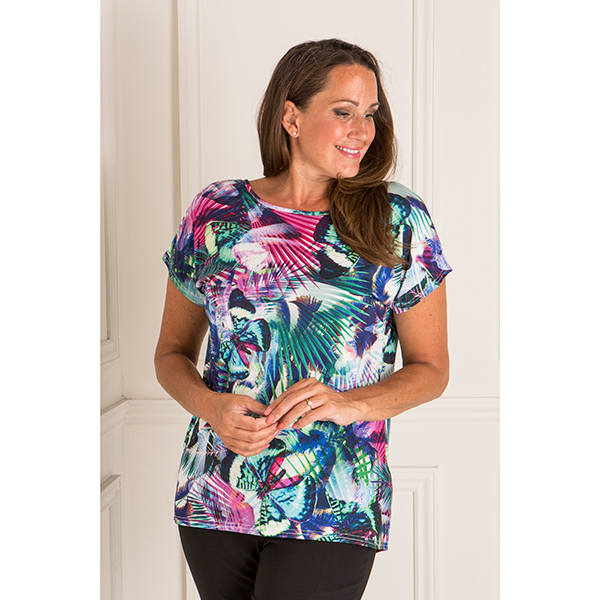 Styled By Two Way Print Detail Top Butterfly