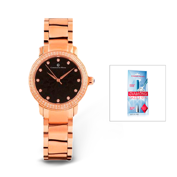 Constantin Weisz Ladies' Watch, Stainless Steel Bracelet and FREE Dazzle Stick Rose Gold
