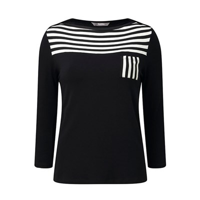 Lavitta Stripe Yoke Top 23.5in