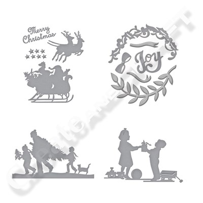 Spellbinders Sharyn Sowell Good Tidings Silhouette Collection with Free Joy Wreath Die