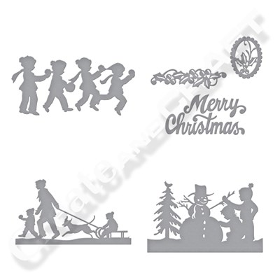 Spellbinders Sharyn Sowell Festive Fun Silhouette Collection With Free Christmas Card Die