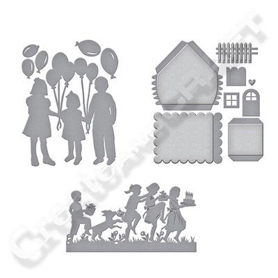 Spellbinders Sharyn Sowell Joyous Celebrations Silhouettes with Free Build a House Die