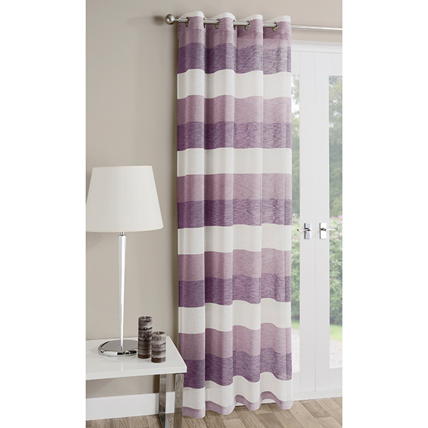 Pair of Mykonos (55 x 54 inch drop) Voile Panels Heather