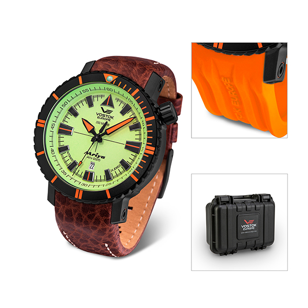Vostok Europe Gent's Mriya Automatic Watch, Interchangeable Strap, Dry Box Green