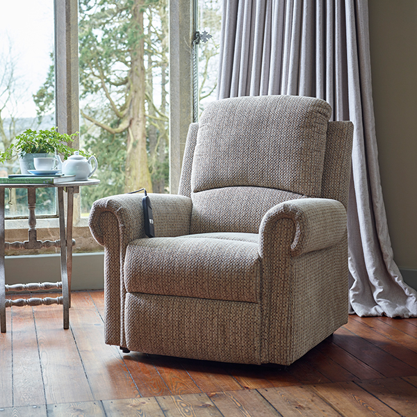 The Buxton Electric Rise and Recliner Chair Mocha