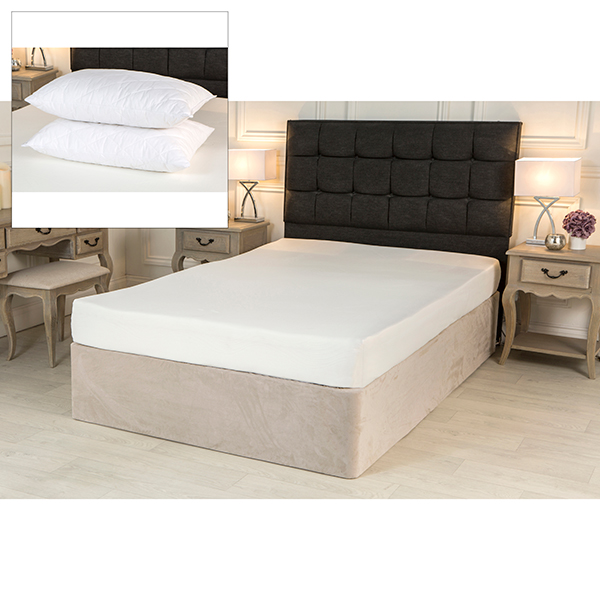 Comfort and Dreams Memory 2000 Elite King Size Mattress with Coolmax Cover & Quilted Memory Foam Pillow Pair 407671