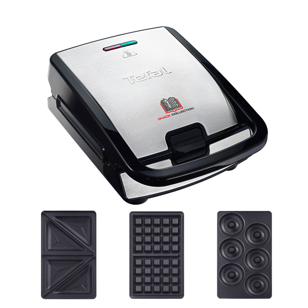 Tefal Snack Collection with 2 Plates and Additional Donut Plates No Colour