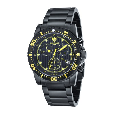 Swiss Eagle Gent's Sea Ranger Chronograph Watch with Stainless Steel Bracelet