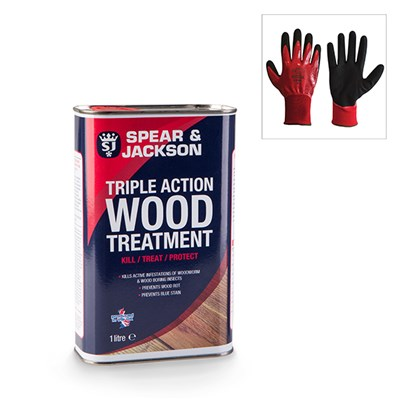 Spear & Jackson Wood Treatment with Grip It Gloves