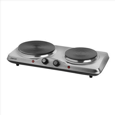 Pifco 1500W Double Boiling Ring with Adjustable Thermostat - Stainless Steel