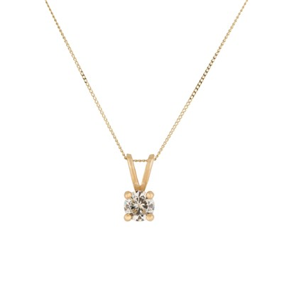 Moissanite 9ct Gold 0.50ct eq Solitaire Pendant
