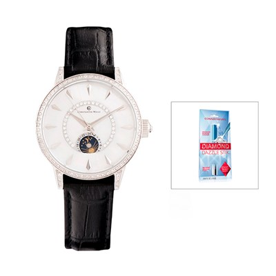 Constantin Weisz Ladies' Automatic Watch, CZ Stones, FREE Dazzle Stick