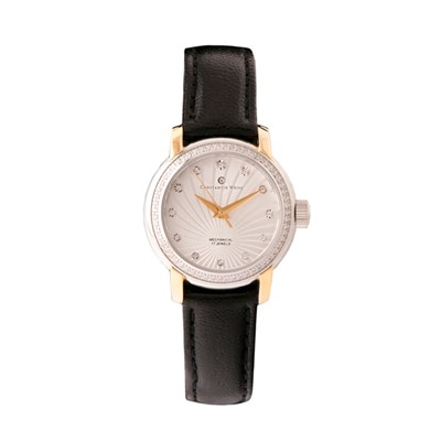 Constantin Weisz Ladies' Watch with Douple Layer Dial and Leather Strap
