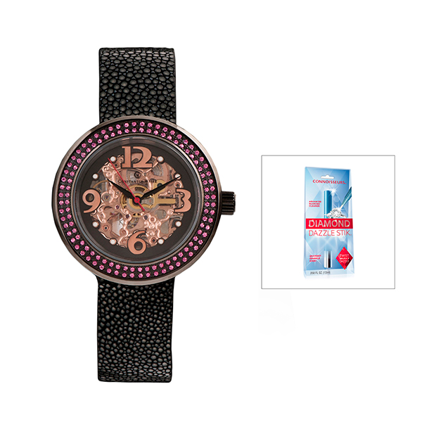 Constantin Weisz Ladies' Automatic Watch with FREE Dazzle Stick Black
