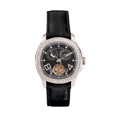 Constantin Weisz Ladies' Automatic Watch, Swarovski Stones, Leather Strap