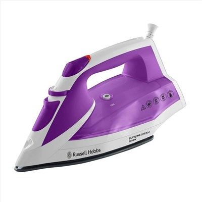 Russell Hobbs Pink/White Supreme Steam Iron 2400W
