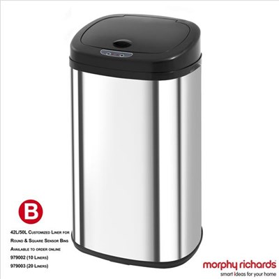 42L Square Sensor Bin with