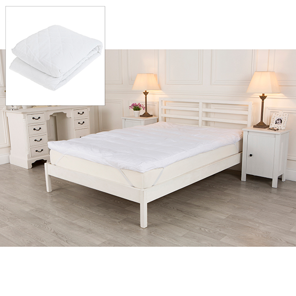 "Downland 3"" Lumbar Support Duck Feather Topper and Mattress protector, Double No Colour"
