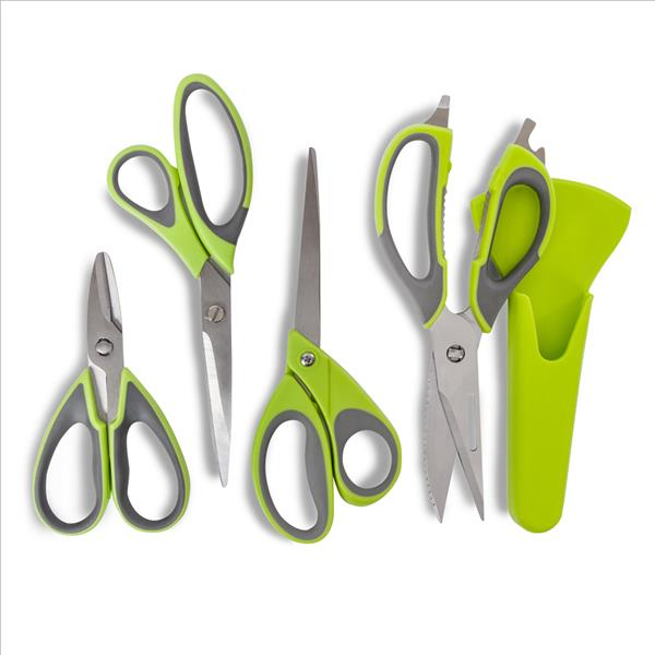 Tower Tower Health Set Of 4 Scissors - Green