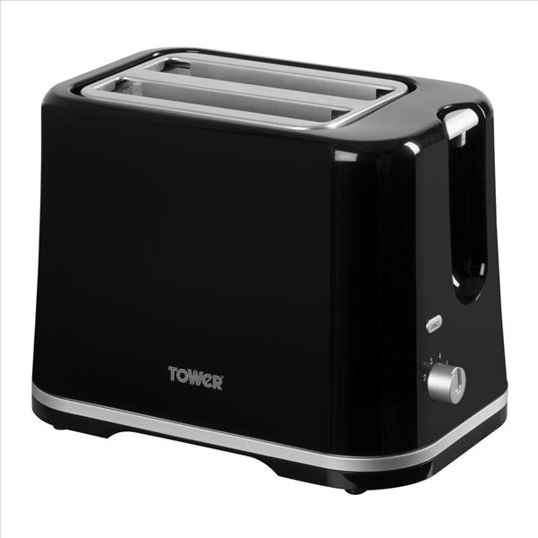 Tower 2 Slice Toaster - Black