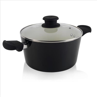 Tower Taper 24Cm Ceramic Casserole - Black