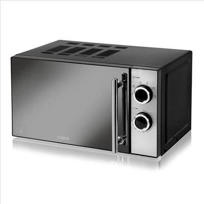 Tower Manual Solo Microwave 800W with 5 Power Levels
