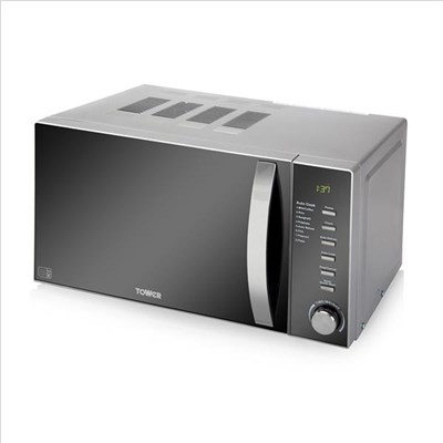 Tower 800W Digital Microwave Chrome