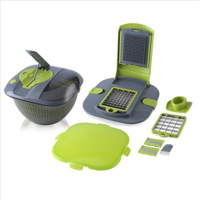 Tower Salad Spinner With Built-In - Green