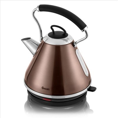 Swan 1.7L Copper Pyramid Kettle Copper