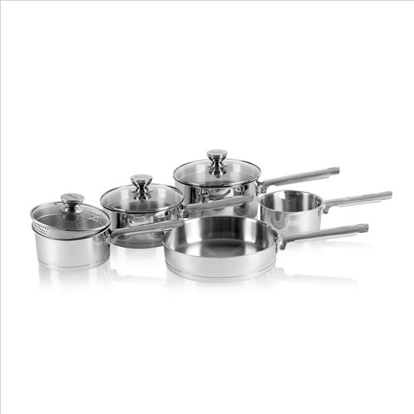 Swan 5 Piece Saucepan Set With - S/Steel