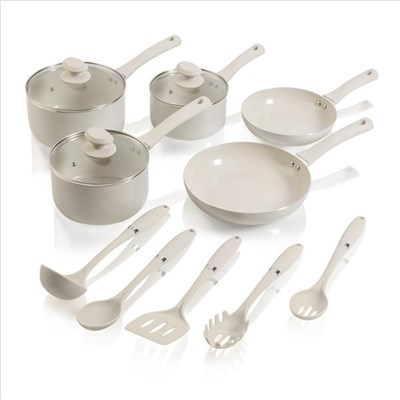 Swan 5 Piece Pan Set Almond With - Almond