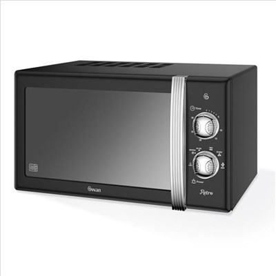 Swan 800W Manual Microwave - Black
