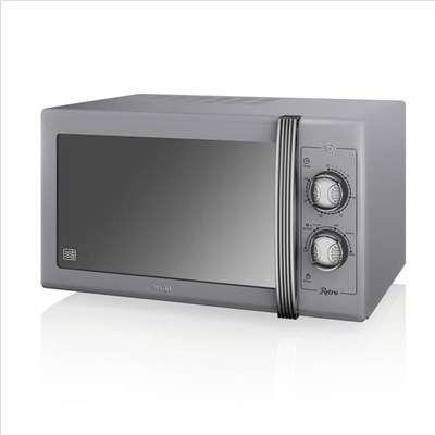 Swan 900W Manual Microwave - Grey