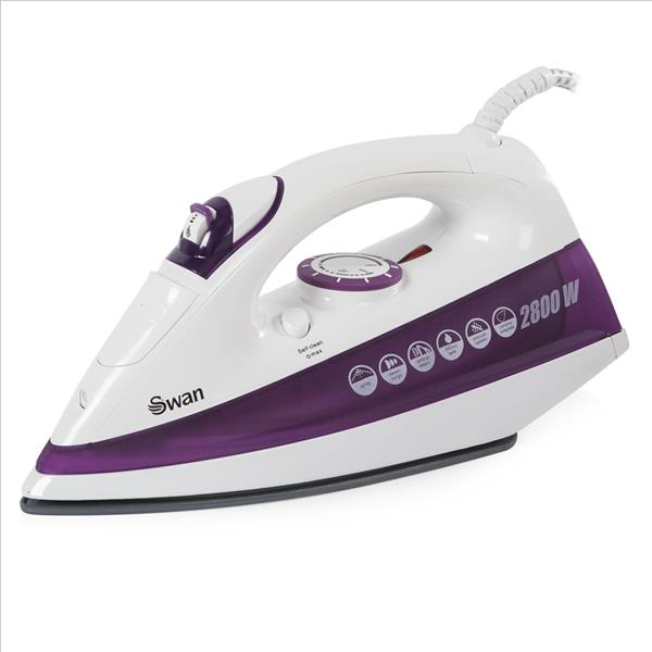 Swan 2.8Kw Purple Powerpress Iron - White