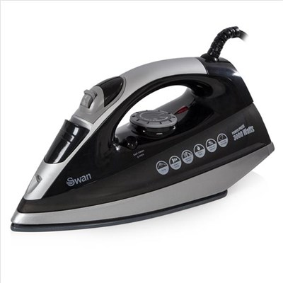 Swan 3Kw Black Powerpress Iron - Black