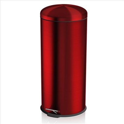 Swan Townhouse 30L Round Pedal Bin - Red