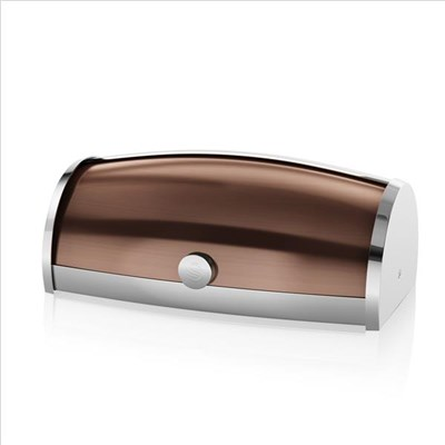 Swan Townhouse Roll Top Bread Bin Copper