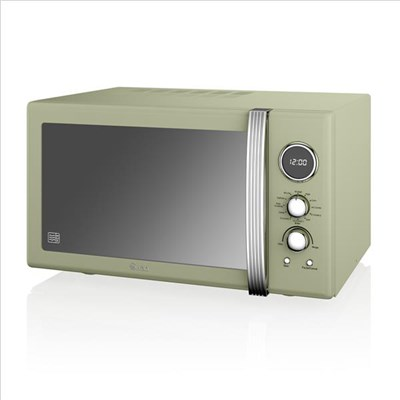 Swan 25L Digital Combi Microwave - Green
