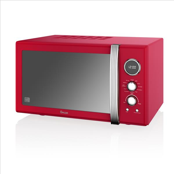 Swan 25L Digital Combi Microwave - Red