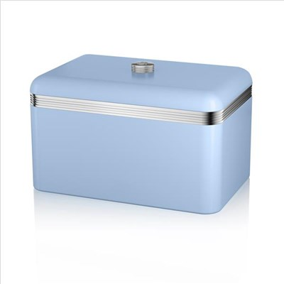 Swan Retro Bread Bin Blue - Blue
