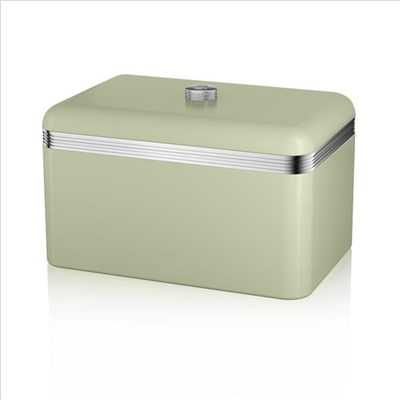 Swan Retro Bread Bin Green - Green