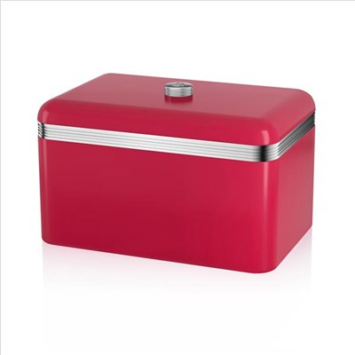 Swan Retro Bread Bin Red - Red