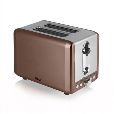 Swan 2 Slice Copper Toaster - Copper