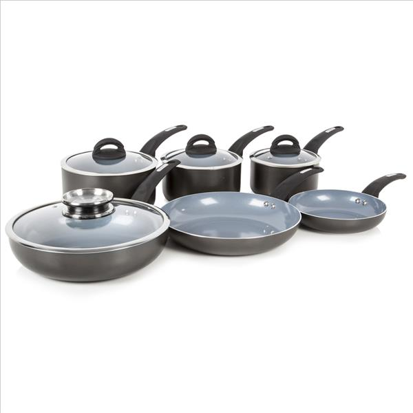 Tower 7Pce Aluminium Pan Set - Graphite