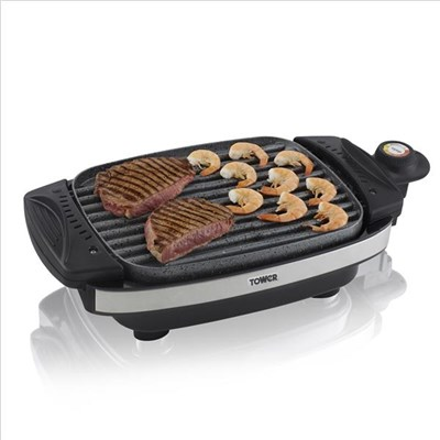Tower Cerastone Reversible Grill - Black