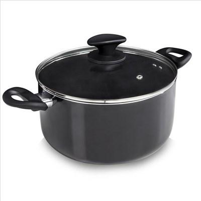 Tower 24Cm Ceramic Casserole Black - Black