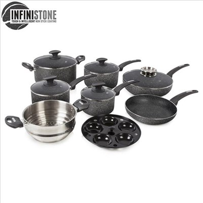 Tower 9Pce Stone Coated Pan Set