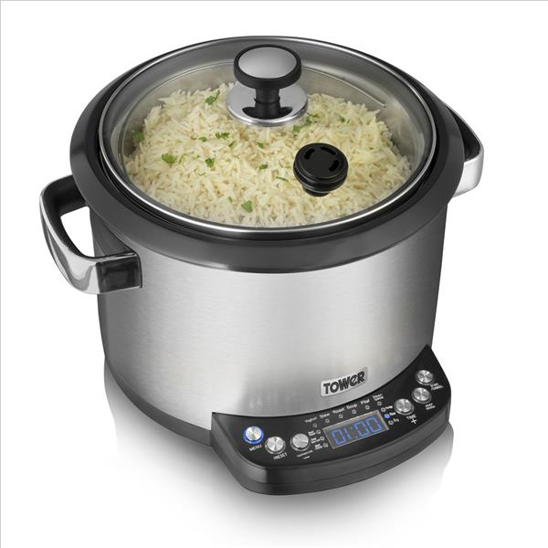 Tower 5L Digital Multi Cooker - S/Steel